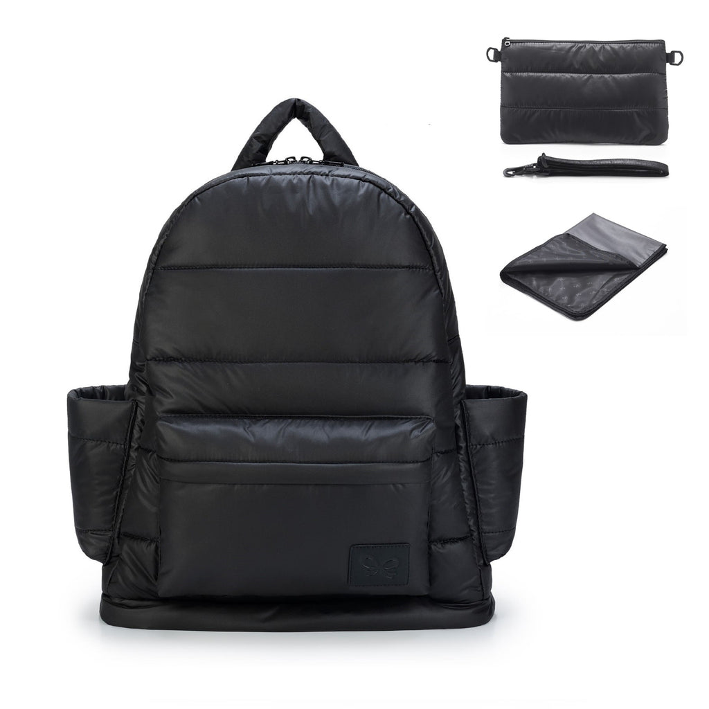 Airy Nappy Bag - L Backpack Bundle - So Black