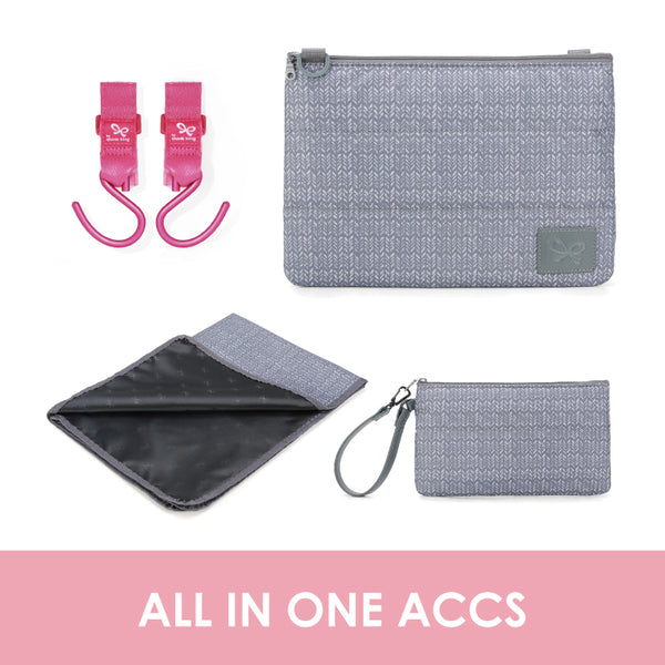 Knitted Grey Changing Pack
