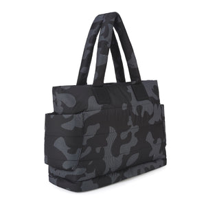 Airy Nappy Bag - L Tote - Black Camouflage