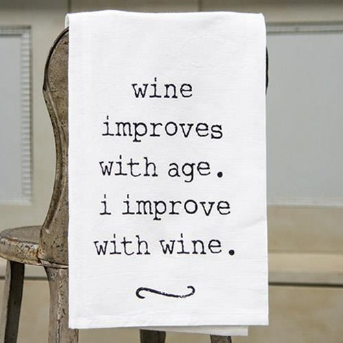 Wine Improves Dish Towel