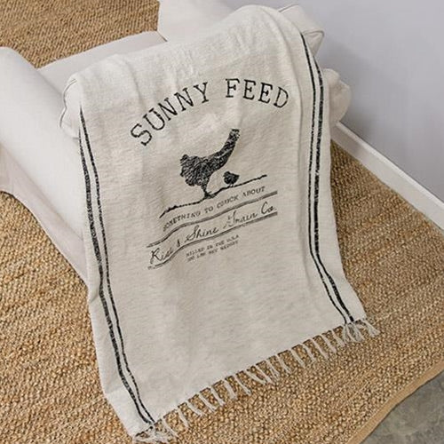 Sunny Feed Farmhouse Throw