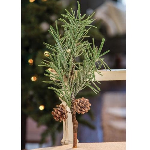Glittered Large Pine Pick 14 inch