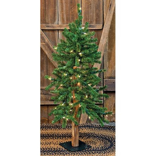 Pre-Lit Alpine Tree 4ft