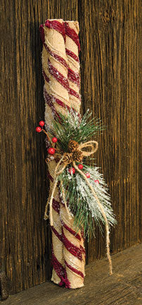 Burlap Peppermint Sticks