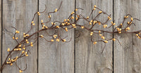 Old Gold Wispy Pip Garland 5'