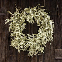 Flocked Leaves Wreath 24""