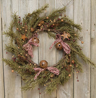 Rustic Holiday Pine Wreath 18""