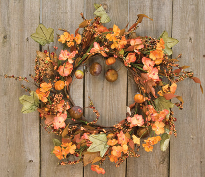 Harvest Garden Wreath 14""