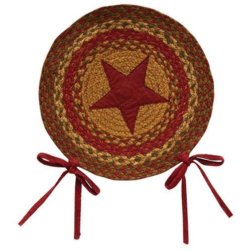 Cinnamon Star Braided Chair Pad 15""