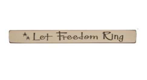 Let Freedom Ring Engraved Block 12""