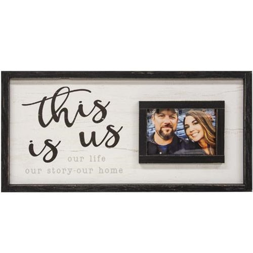 This Is Us Framed Sign With Picture Frame 12x24