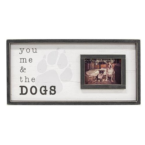 "You Me & The Dogs Photo Frame 12""x24"""