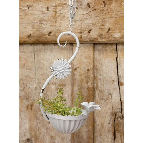 Shabby Chic Ornate Hanging Metal Bird Feeder