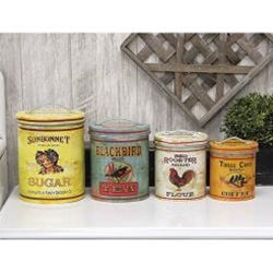 4/Set Nesting Vintage Look Kitchen Containers