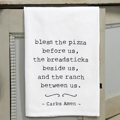 Carbs Amen Dish Towel
