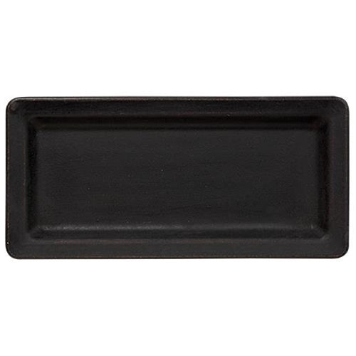 "11"" Black Wooden Tray"
