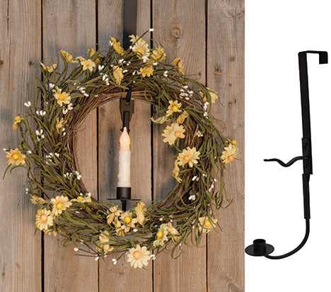 Wreath & Candle Holder (2 pieces)