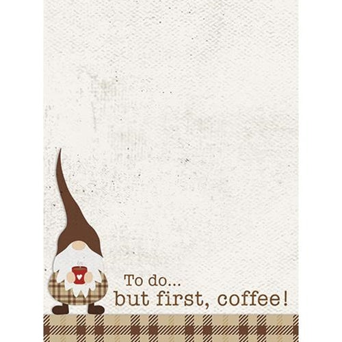 To Do...But First Coffee! Mini Notepad