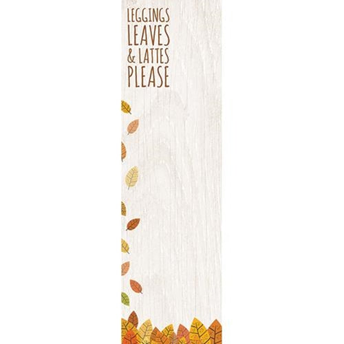Leggings Leaves & Lattes Please Notepad