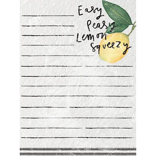 Easy Peasy Lemon Squeezy Mini Notepad