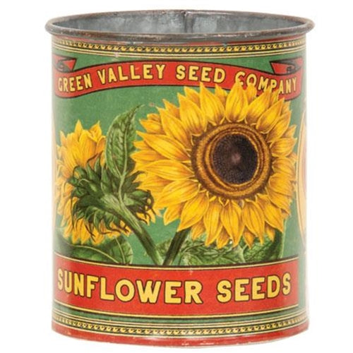 Green Valley Sunflower Seeds Metal Can