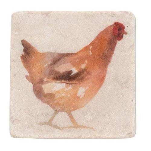 4/Set Rooster Resin Coasters
