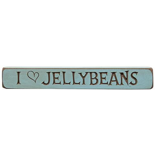 I Heart Jellybeans Engraved Block 12""