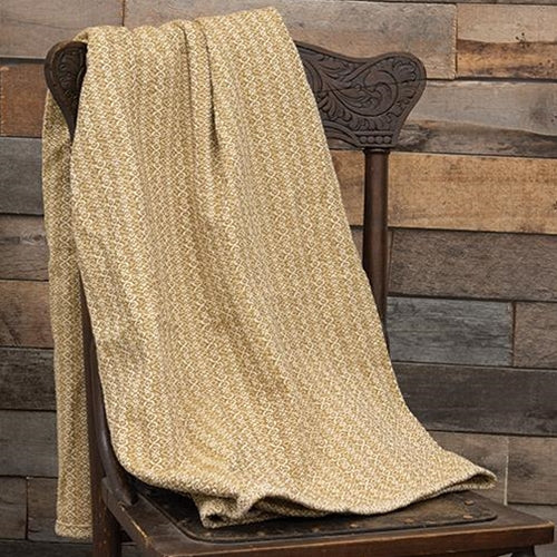 Fairfax Cream/Mustard Throw