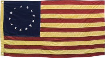 Aged Betsy Ross Flag 28""