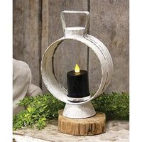 Small White Open Round Lantern