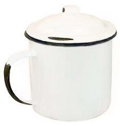 Enamel Mug With Lid - 5""