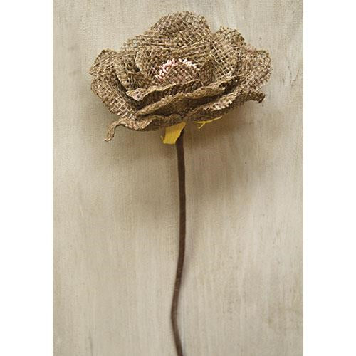 Natural Burlap Rose
