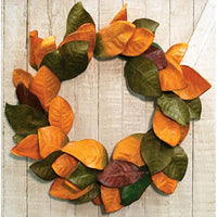 Fall Magnolia Leaves Wreath 22""