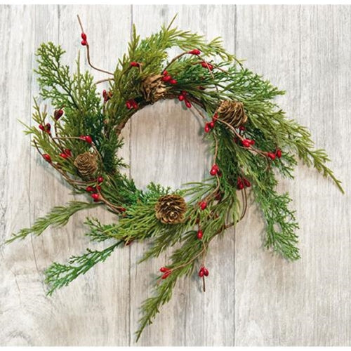 Evergreen Pine w/Red Pips Ring 3.5""