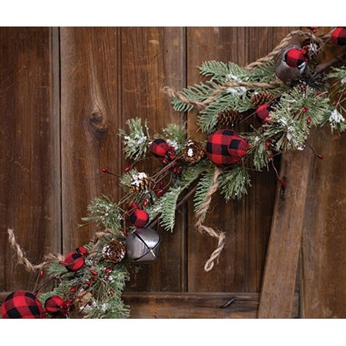 Buffalo Gingham Country Holiday Garland 4ft