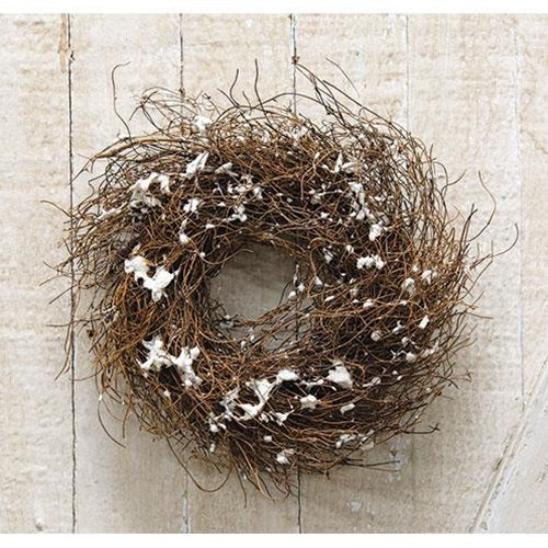 Snowy Angel Hair Vine Wreath 8""