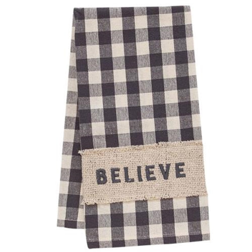 Believe Buffalo Check Dish Towel