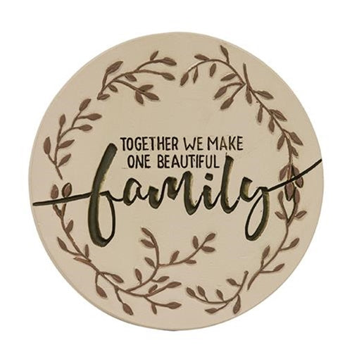 Together We Make One Beautiful Family Candle Jar Lid
