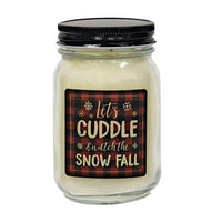 Let's Cuddle Pint Jar Candle Snowberry