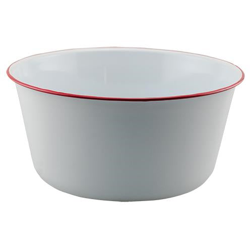 Red Rim Enamel Mixing Bowl
