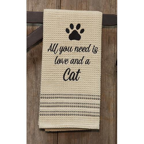 Love & Cat Dish Towel