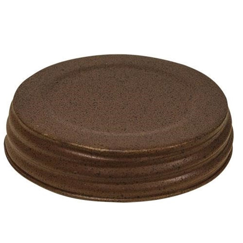 Wide Rusty/Black Jar Lid 3.5""