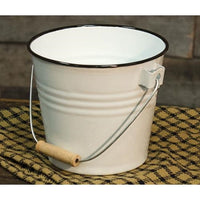 Black Rim Enamel Bucket