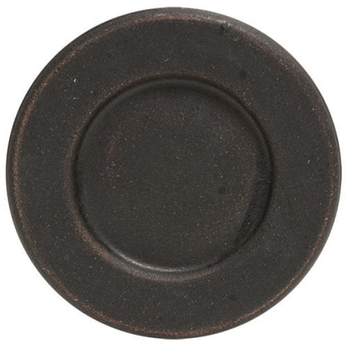 "6"" Black Weathered Plate w/ Rim"