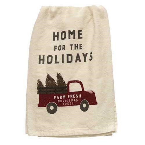 Home For The Holidays Dish Towel