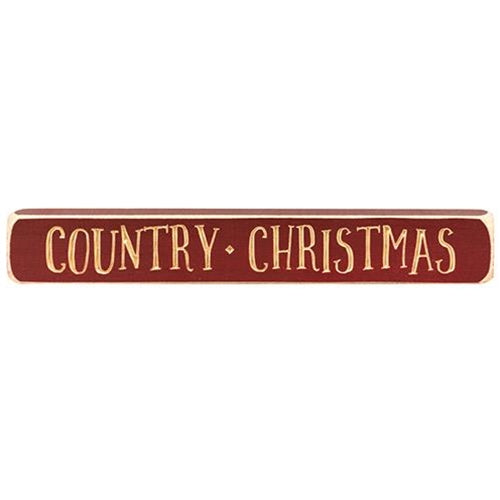 Country Christmas Engraved Block 12""