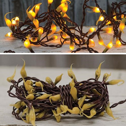 Silicone Teeny Lights Brown Cord 50ct