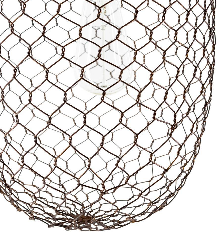 antique farmhouse cage pendant light