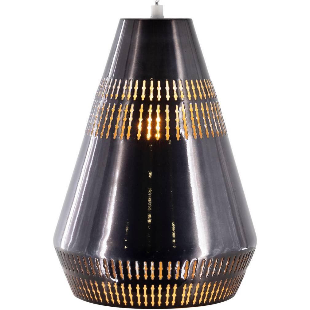one light black modern nordic cone pendant light