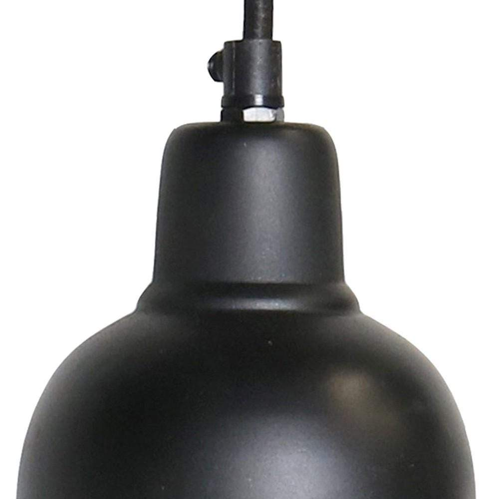 black mini pendant light